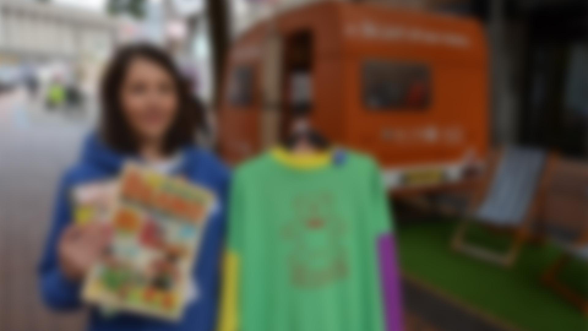 Bright Orange 80s Themed Caravan Visits Brum for Charity's 30th Birthday