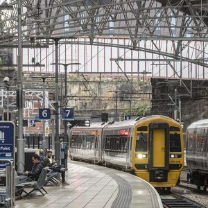 Merseytravel First train over the Halton Curve arrives at Lime street station.