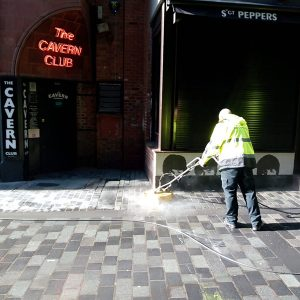 BID Street Rangers - hot washing Mathew Street