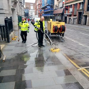BID Street Rangers - hot washing Stanley Street