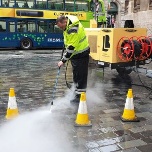 BID Street Rangers - hot washing Temple Court