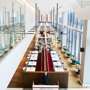 Hyatt-Regency-Manchester-The-Laureate-Restaurant-From-Above