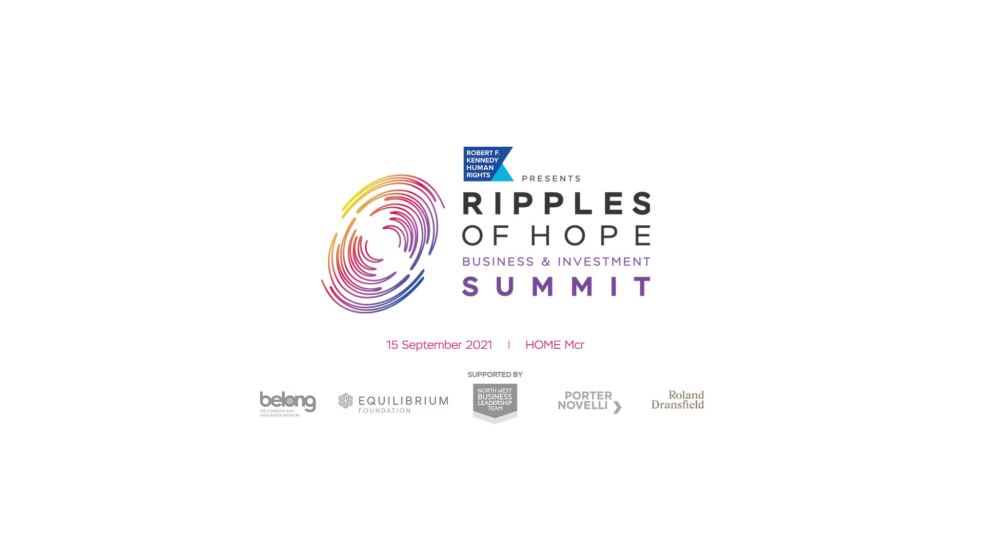 Ripples of Hope Business & Investment Summit