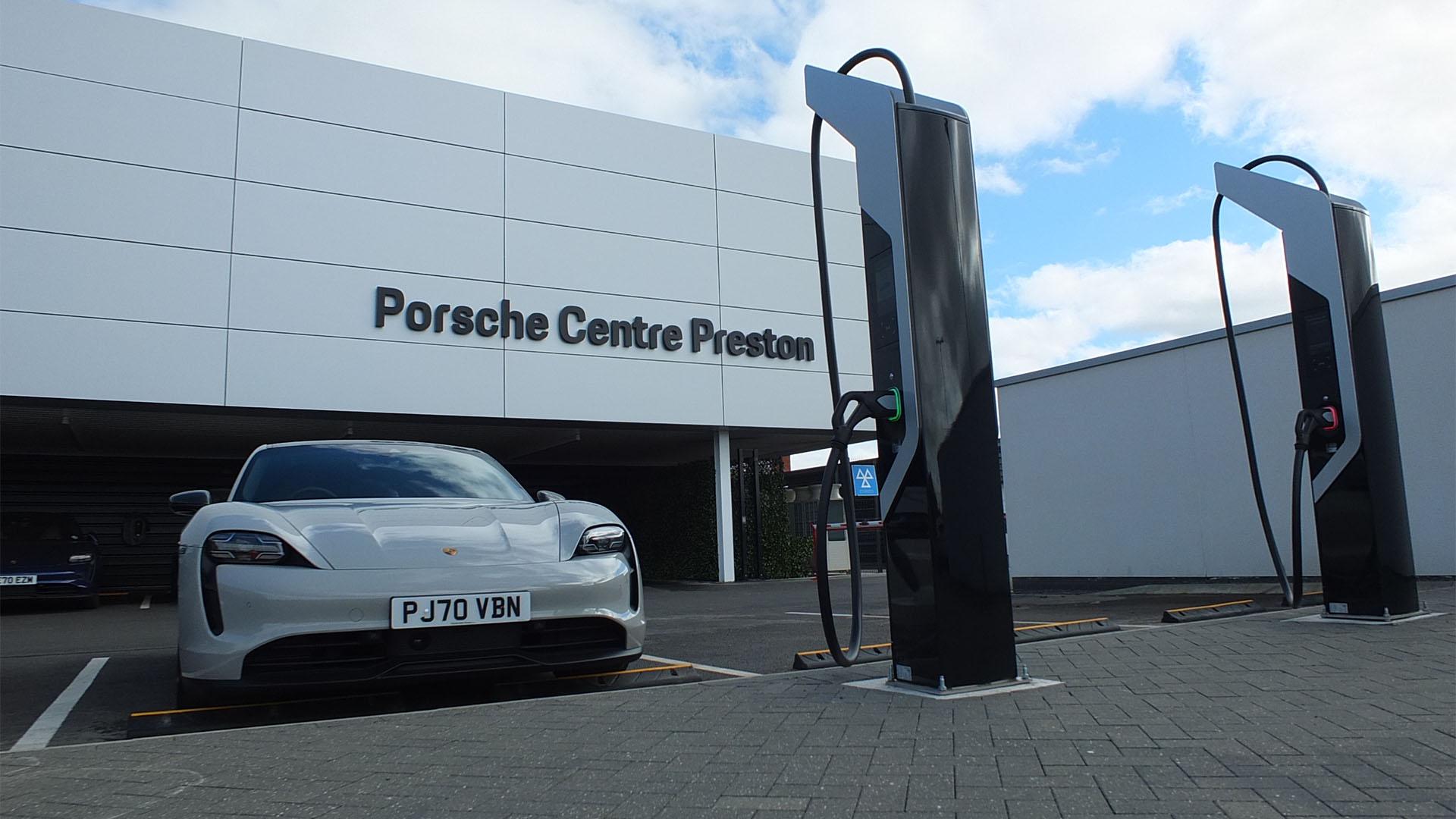 UK's First Ultra High Speed Porsche Charging Points Installed in Preston, Lancashire