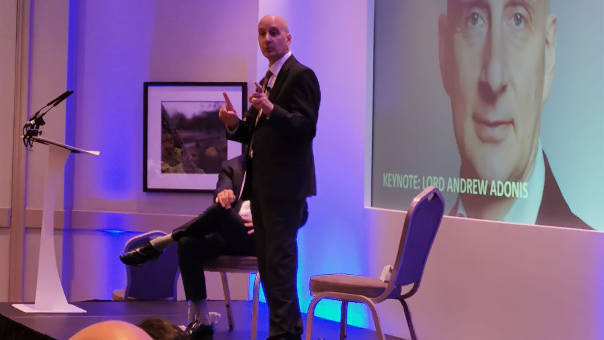 Adonis and Neville address the inaugural Talking 'Bout Regeneration conference