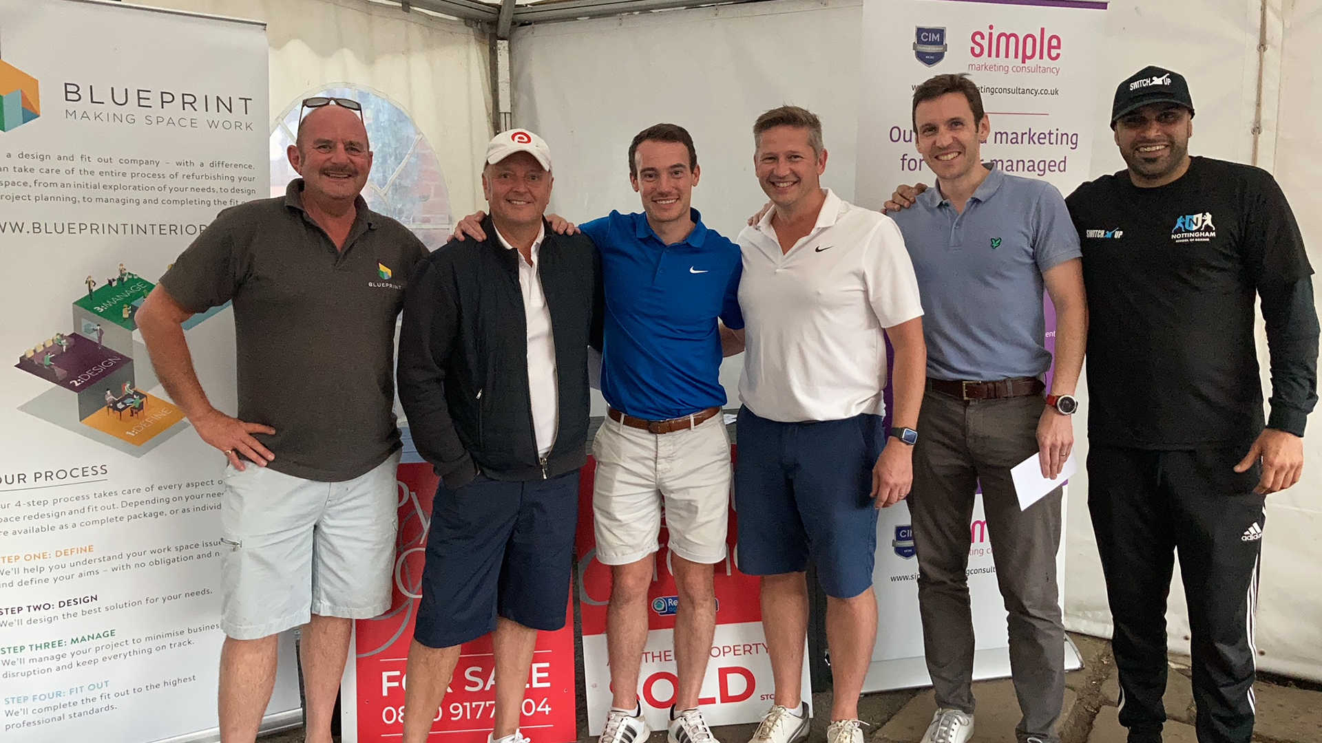 East Mids Construction and Property Sector tees off to raise £3,000 for SWITCH UP