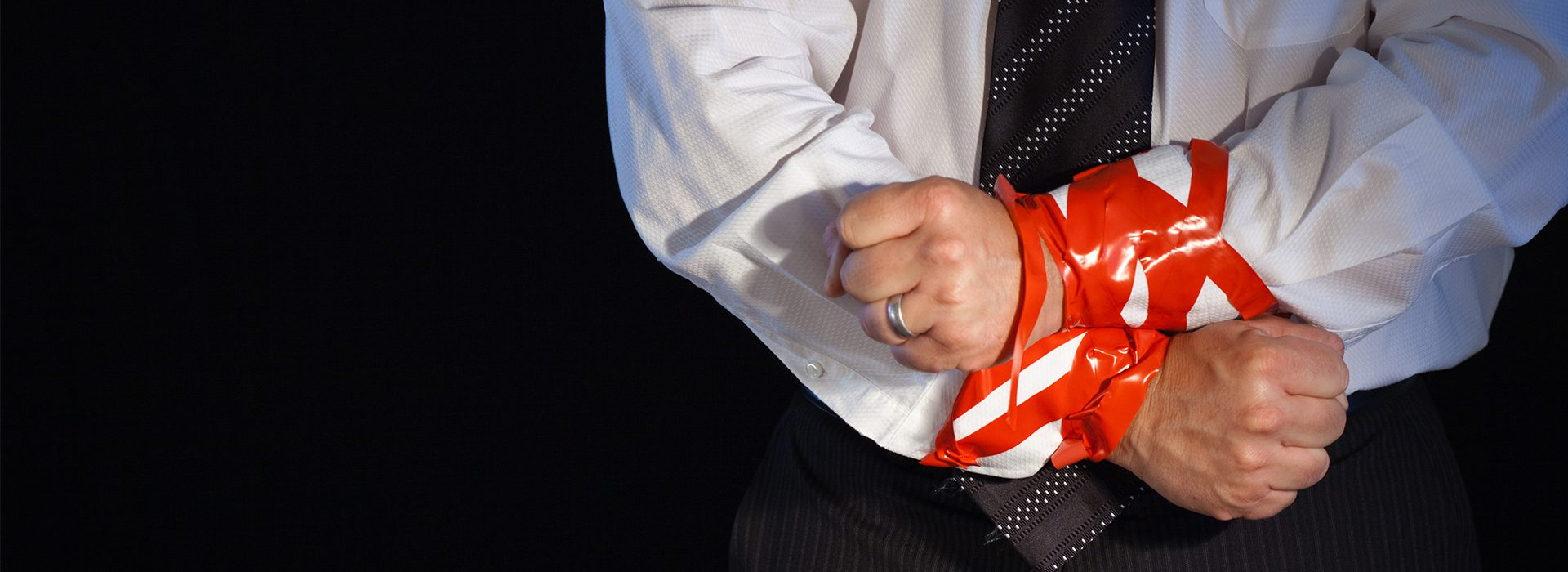 drowning and waving - red tape is stragnling business